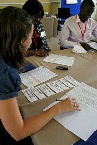 Evaluation session at the CSC Development Module Toolkit workshop, July 2014