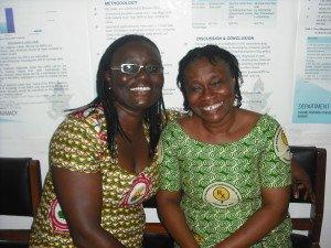 Dr Frances Owusu-Daaku  and Dr Rita Akosua Dickson