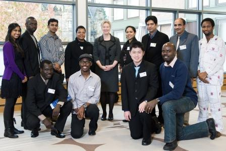 Shona Robison MSP with Commonwealth Scholars studying at Scottish institutions