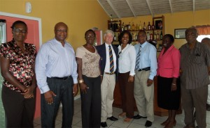 Alumni from Montserrat with Professor Tim Unwin