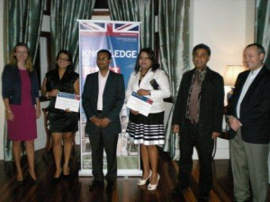 Pre-departure reception at British High Commission in Mauritius