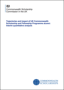 Trajectories and impact of UK Commonwealth Scholarship and Fellowship Programme alumni: Interim quantitative analysis