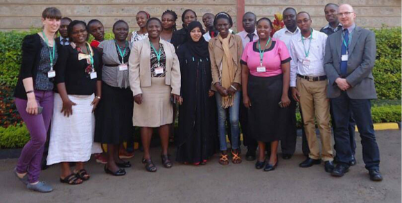 2014 Commonwealth Distance Learning Scholars from Kenya, studying at UCL Institute of Education
