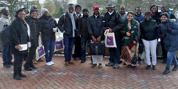 Commonwealth Distance Learning Scholars studying MSc Gerontology and MSc Global Ageing and Policy at the University of Southampton, during their UK residential course in March 2018