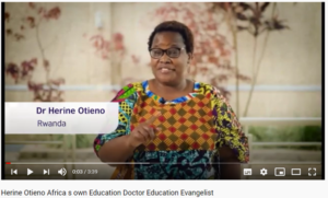 Video screenshot of Dr Herine Otieno