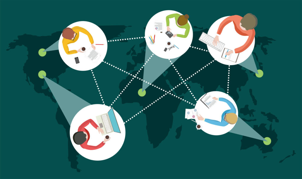 World Connected People Illustration