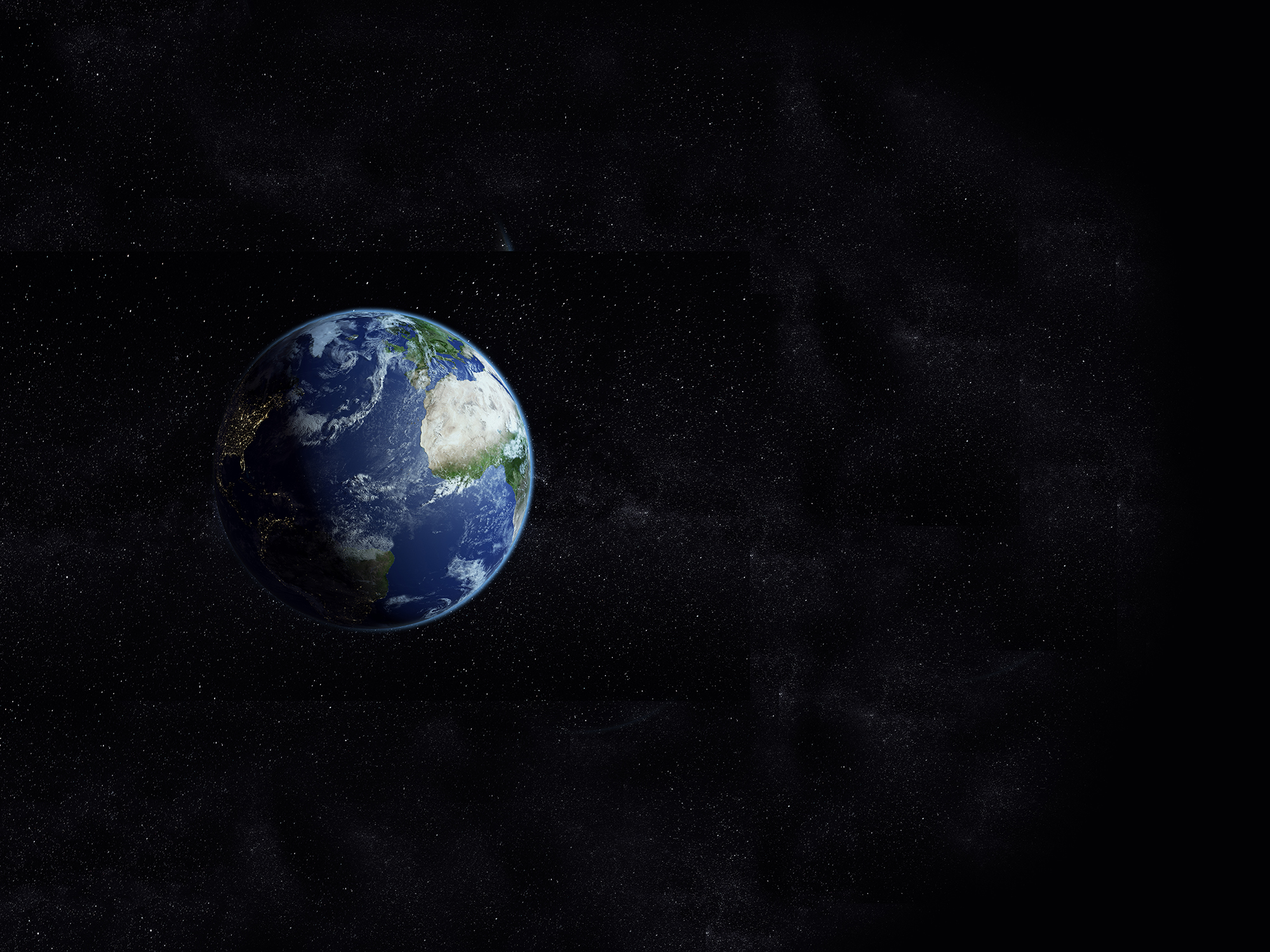 Great image of the earth. The shadow shows the night and the day