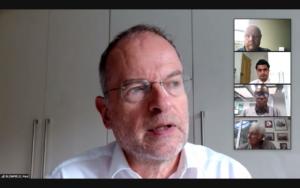 Headshot of Paul Blomfield on video conference screen